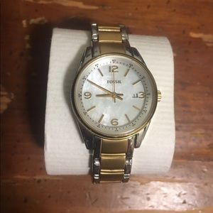 Fossil Three Hand Two-Toned Stainless Steel Watch